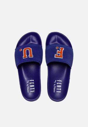PUMA Select Leadcat Fenty FU Sandals & Flip Flops Clematis Blue & Scarlet