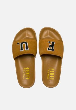 PUMA Select Leadcat Fenty FU Sandals & Flip Flops Golden Brown - Scarab