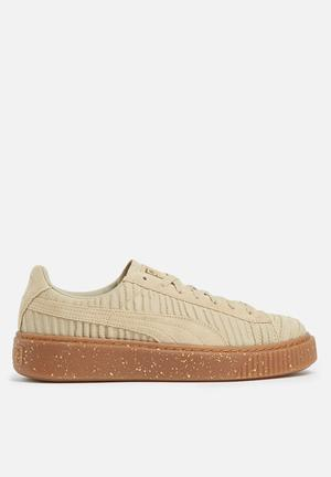 PUMA Basket Platform Sneakers Safari  / Whisper White