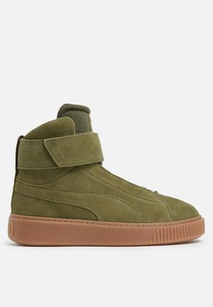 PUMA Platform Mid Sneakers Olive Night