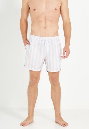 Cotton On Swim Shorts Swimwear Blue & Pink