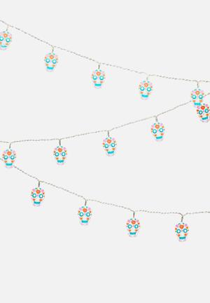 Tatty Devine Sugar Skull String Lights Pool & Fun