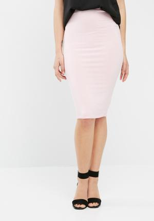 Missguided Jersey Midi Skirt Pink