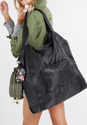 Cotton On Barcelona Foldbable Tote Bags & Purses Black