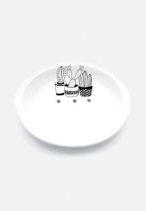 Sugar & Vice Cacti Soap Dish Bath Accessories Handmade Ceramic