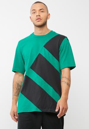Adidas Originals Block Tee T-Shirts Green & Black