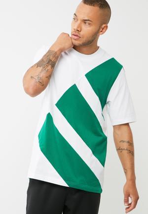 Adidas Originals Block Tee T-Shirts White & Green