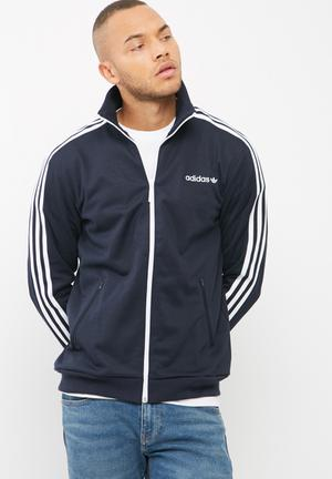 Adidas Originals Bb Tracktop Hoodies, Sweats & Jackets Dark Navy & White