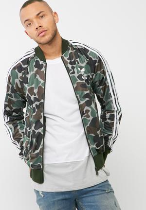 Adidas Originals Camo Track Top Hoodies, Sweats & Jackets Green, Black & Brown