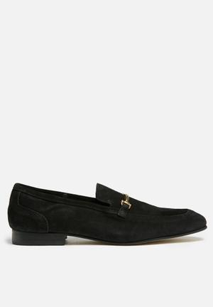 Basicthread John Suede Slip-ons And Loafers Black