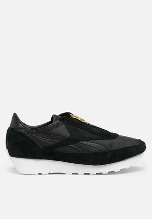 Reebok Aztec Zip Sneakers  Black / Sleek Met / White