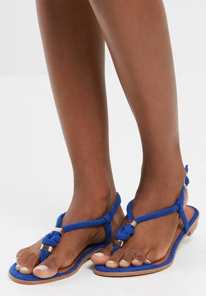 Sissy Boy Knotted Thong Sandals & Flip Flops Blue