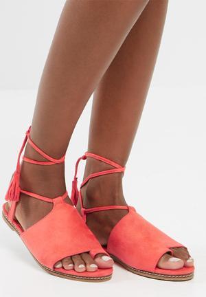 Sissy Boy Wraparound Sandal Coral