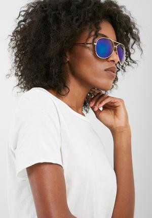 Dailyfriday Kelly Mirrored Sunglasses Eyewear Metallic