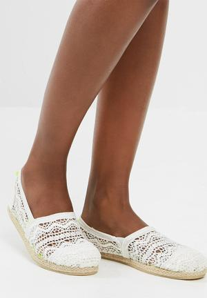 Superdry. Jetstream Lace Espadrille- White Pumps & Flats White