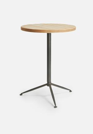 Sarah Jane Tripod Side Table Wood & Metal