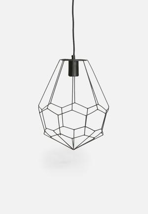 Indigi Designs Drop Wire Pendant Lighting Mild Steel With Fabric Cord