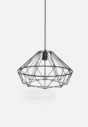 Indigi Designs Metal Facet Pendant Lighting Wire