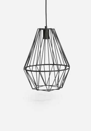 Indigi Designs Metal Shard Pendant Lighting Wire With Fabric Cord