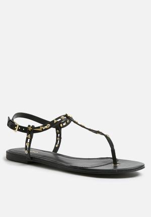 ALDO Besos Sandals & Flip Flops Black & Gold