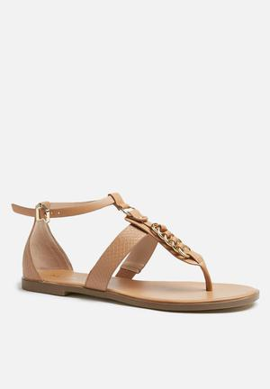 ALDO Keyma Sandals & Flip Flops Tan & Gold
