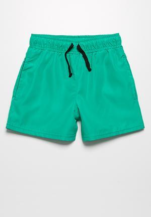 Basicthread Swim Shorts Swimwear Green
