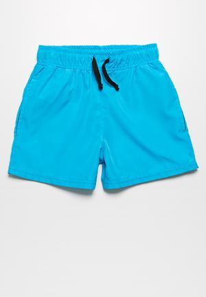 Basicthread Swim Shorts Swimwear Blue