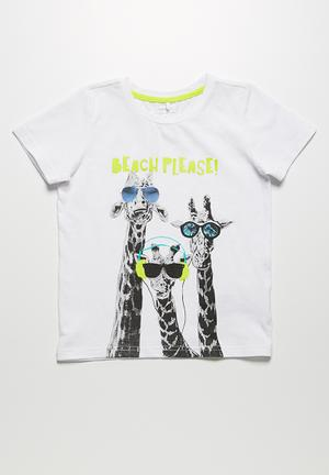 Name It Giraffe Tee Tops White