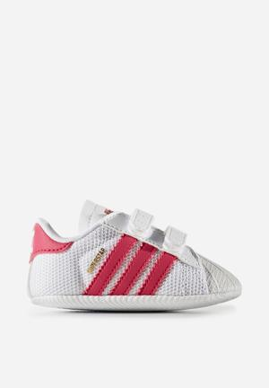 Adidas Originals Baby Superstar Shoes White/pink/white