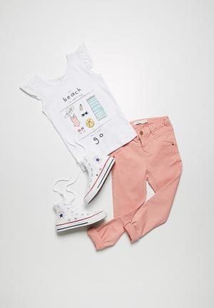 Name It Aline Skinny Twill Pants Pink
