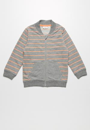 Name It Dale Hoodie Jackets & Knitwear Grey & Orange