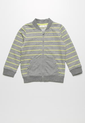 Name It Dale Hoodie Jackets & Knitwear Grey & Yellow