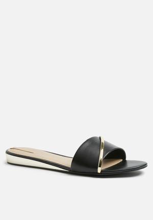 ALDO Aslan Sandals & Flip Flops Black & Gold
