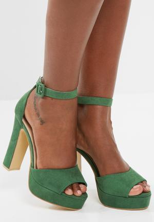 Footwork Leighton Heels Green