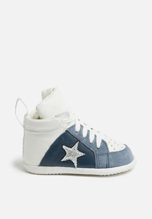 Shooshoos Westside Shoes Navy & White