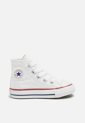 Converse Infant All Star Hi Shoes White