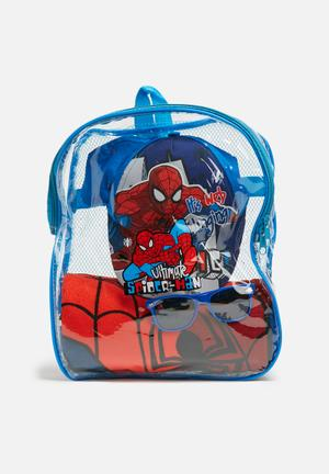 Character Fashion Spider-Man Fun In The Sun Set Accessories Red & Blue