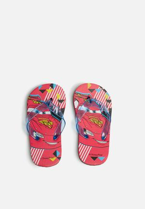 Character Fashion CARS Flip Flops Shoes Red