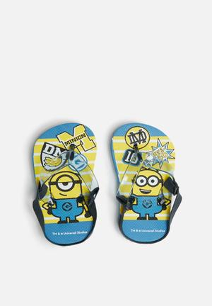 Character Fashion Despicable Me Flip Flops Shoes Blue