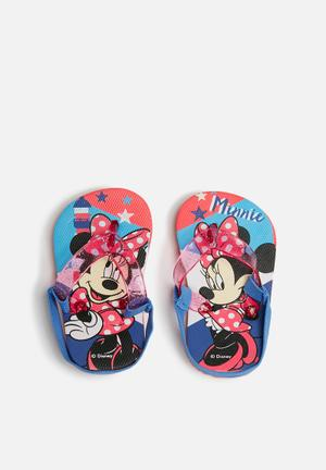 Character Fashion Minnie Mouse Flip Flops Shoes Red