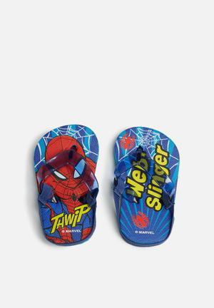 Character Fashion Spider-Man Flip Flops Shoes Blue