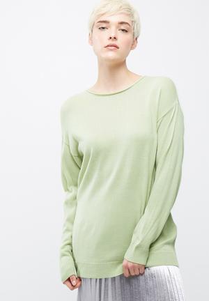 Dailyfriday Crew Neck Slouchy Knit Knitwear Light Green