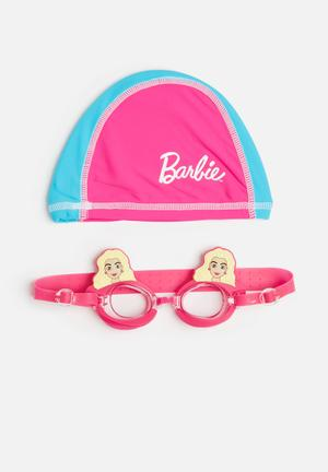 Character Fashion BARBIE Swimming Goggles And Cap Accessories Pink