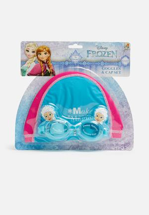 Character Fashion Frozen Swimming Goggles And Cap Accessories Blue