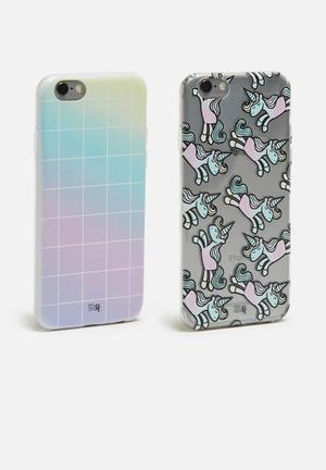 Sixth Floor Rainbows & Unicorns Set - IPhone & Samsung Cover TPU