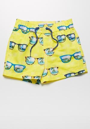MINOTI Sunglasses Swimshorts Swimwear Yellow