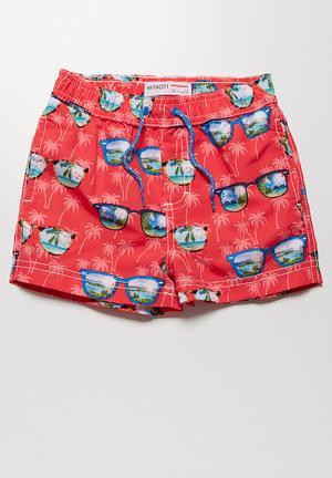 MINOTI Sunglasses Swimshorts Swimwear Coral