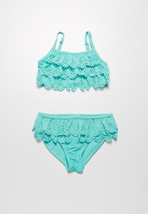 MINOTI Laser Cut Bikini Swimwear Blue