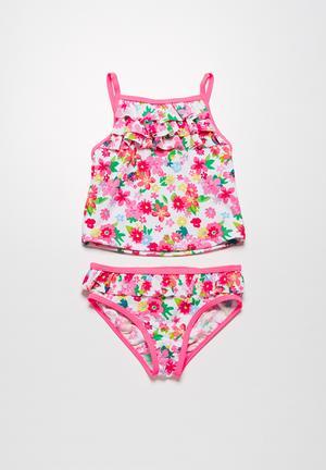 MINOTI Flowers Bikini Swimwear Pink