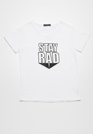Basicthread Stay Rad Tee Tops White
